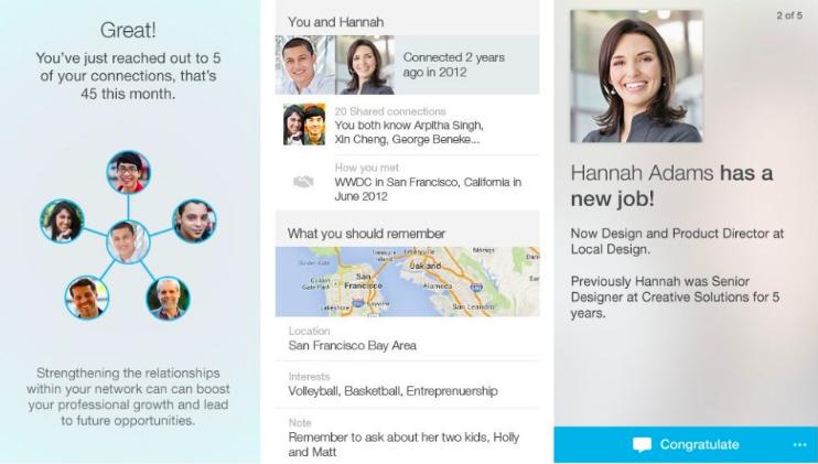 LinkedIn connected app